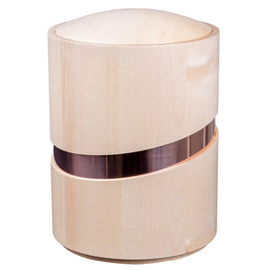Modern Artistic Wooden Cremation Urn for Adult Ashes Large Funeral Urn for Adult (WU57) - unique.urns_caskets