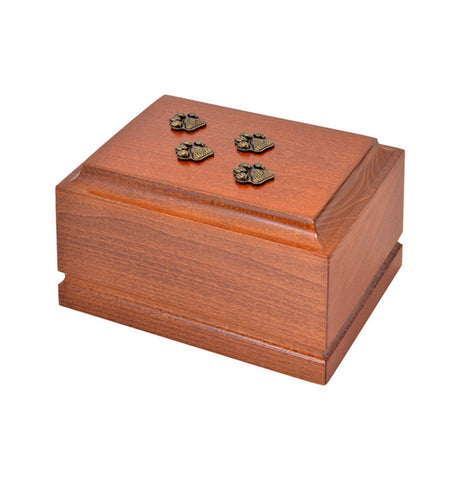 Wooden Pet Cremation Urn for Ashes Unique Memorial casket final resting place for a beloved Cat or Dog. (ZD9) - unique.urns_caskets
