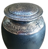 Exclusive Beautiful Glass Cremation Urn- Black- Funeral Urn For Ashes-Adult Urn (Art3) - unique.urns_caskets