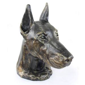 Doberman cropped Cremation Urn for Dog's ashes, Unique Pet memorial statue (8) - unique.urns_caskets