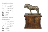 Beautiful solid wood casket with Bronze Statue - Fell Pony Mare  Horse cremation casket for Horse ashes (3) - unique.urns_caskets - 3