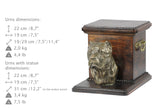 Beautiful solid wood casket cremation urn for dog's ashes with Cane Corso  statue (27)