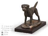 Solid Wood Casket Border Terrier Memorial Urn for Dog's ashes,with Dog statue.Pet Urn (7) - unique.urns_caskets