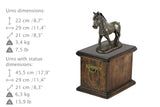 Beautiful solid wood casket with Bronze Statue - Shire  Horse cremation casket for Horse ashes (10) - unique.urns_caskets - 3