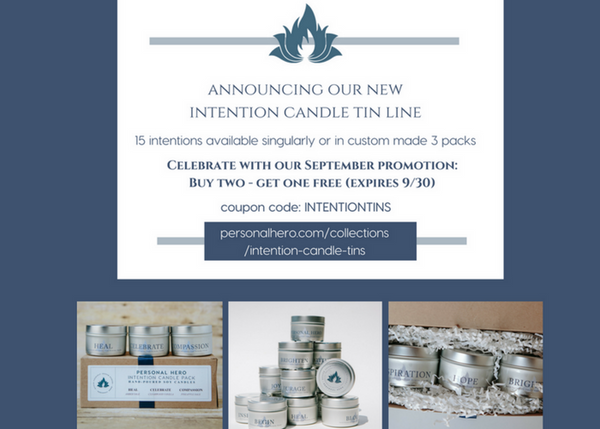 New Intention Candle Tin Line