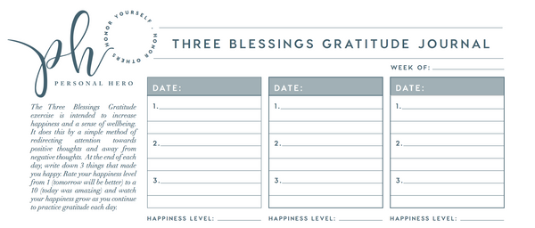 Three Blessings Gratitude Journal