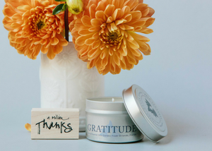 Gratitude Intention Candle - 4 oz tin