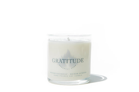 Gratitude Intention Candle - 8 oz glass