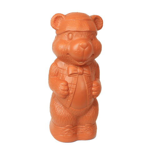 Honey Bear Money Bank: Large Plastic Blow-Mold Design - Classic Retro Design