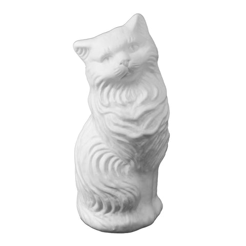 White Kitty-Cat Money Bank: Large Blow-Mold - Classic Retro Design
