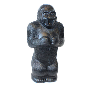 Large Gorilla Money Bank: 17 Inch Plastic Blow-Mold - Classic Retro Design