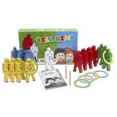 BILL DING Deluxe Set The Original Stacking Balancing Building Wood Clowns Blocks