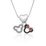 Disney Mickey Minnie Charm Necklace