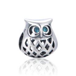 Baby Owl Halo Clear Charm