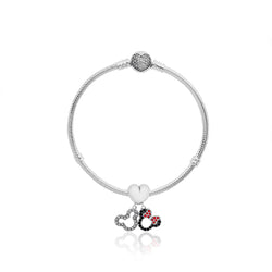 Disney Mickey and Minnie Charm Bracelet