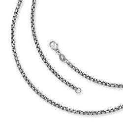 CHARMANIC chains Adjustable Silver Box Chain  40 - 45cm