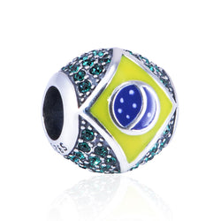 CHARMANIC Charms & Beads Brazilian Flag Charm Bead