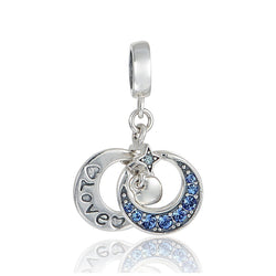 CHARMANIC Charms & beads Engraved Moon Charm