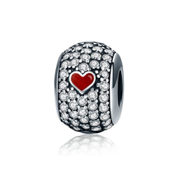 Love Heart Poker Style Charm - CHARMANIC