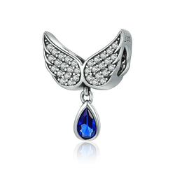 Silver Angel Wings Pendant Charm - CHARMANIC