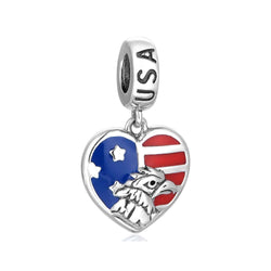 CHARMANIC Charms & beads United States Heart Flag Pendant Charm