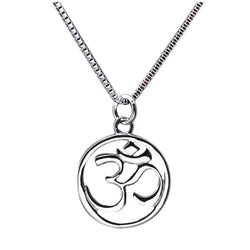 Om Silver Necklace - CHARMANIC