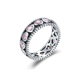 Charmanic ltd. rings Silver Ring Pink Romance