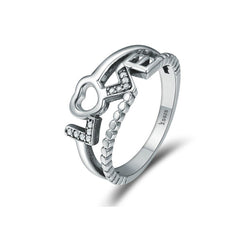 Charmanic ltd. rings Silver Ring True Love