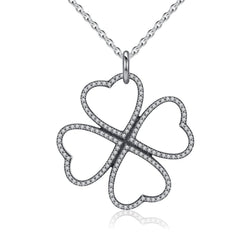 Charmanic Necklaces Lucky Four Leaf Clover Necklace