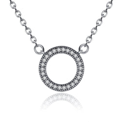 Open Halo Circle Pendant Necklace - CHARMANIC
