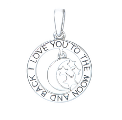 CHARMANIC pendants I Love You To The Moon And Back Pendant