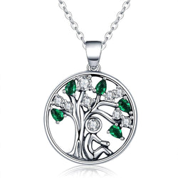 CHARMANIC pendants Tree of Life Silver Necklace
