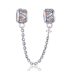 CHARMANIC Safety chains Floral Charms Safety Chain
