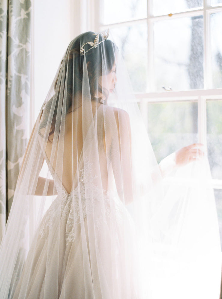 ACACIA | Wedding Veil with Blusher | Noon on the Moon