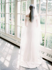 ADDISON | Sheer Wedding Veil with Long Blusher