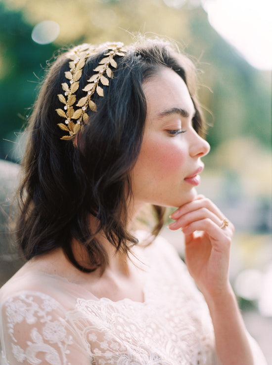 ALEXANDRIA | Gold Wedding Crown