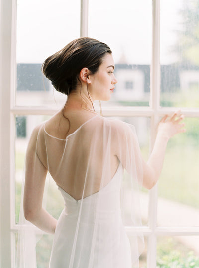 ANAIS | Soft Bridal Cape - Noon on the Moon
