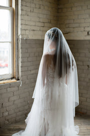 ANGELIQUE | French Silk Drop Veil | Noon on the Moon
