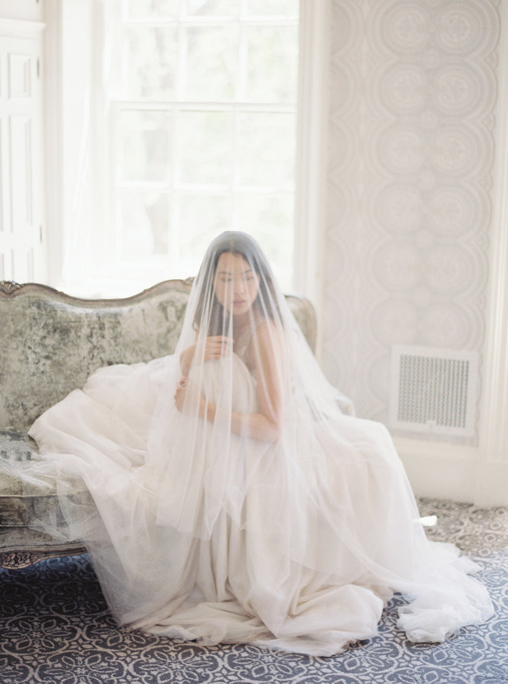 ANGELIQUE | French Silk Drop Veil - Noon on the Moon