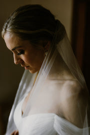 ARIA | Sheer Wedding Veil with Blusher - Noon on the Moon