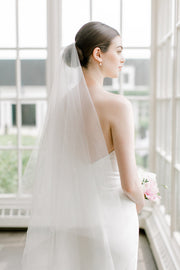 ARIA | Sheer Wedding Veil with Blusher