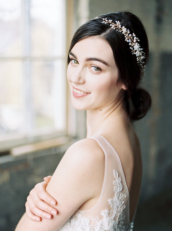 AVA | Opal Bridal Headpiece - Noon on the Moon