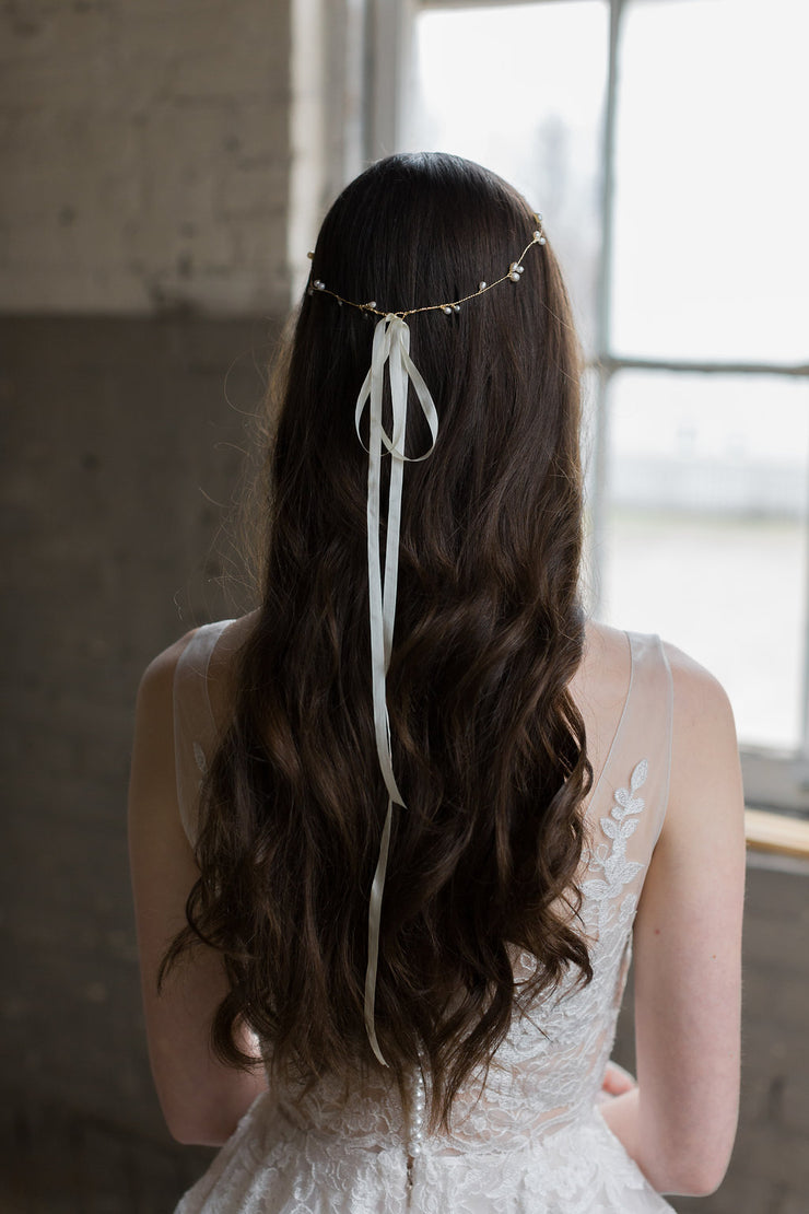 AVERY | Pearl Bridal Halo | Noon on the Moon