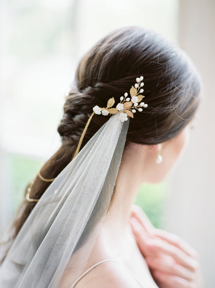 CALLIE | Draped Bridal Headpiece