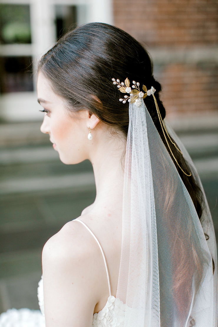 CALLIE | Draped Bridal Headpiece - Noon on the Moon