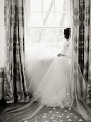 CAMILLE | Floral Wedding Veil | Noon on the Moon