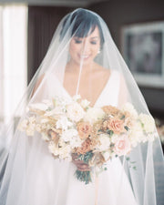 CASSANDA | Wedding Veil with Long Blusher - Noon on the Moon