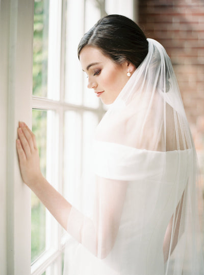 CLARA | Minimalist Wedding Veil | Noon on the Moon