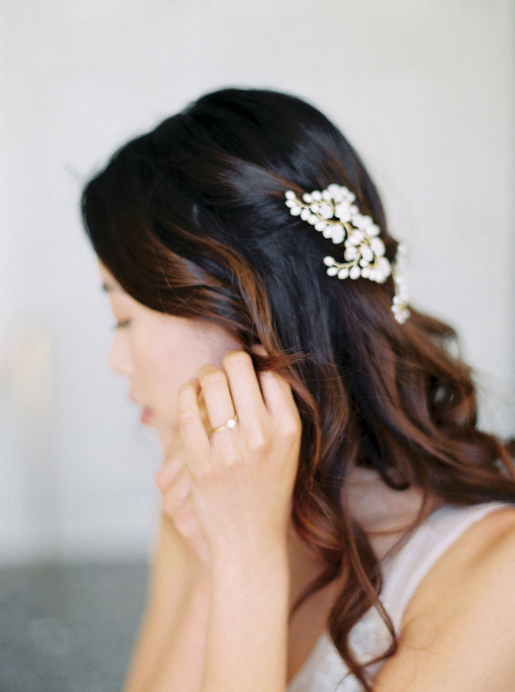 CLAUDETTE | Floral Wedding Hair Pins - Noon on the Moon