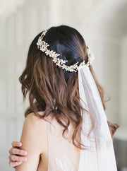 COLETTE | Floral Wedding Crown | Noon on the Moon